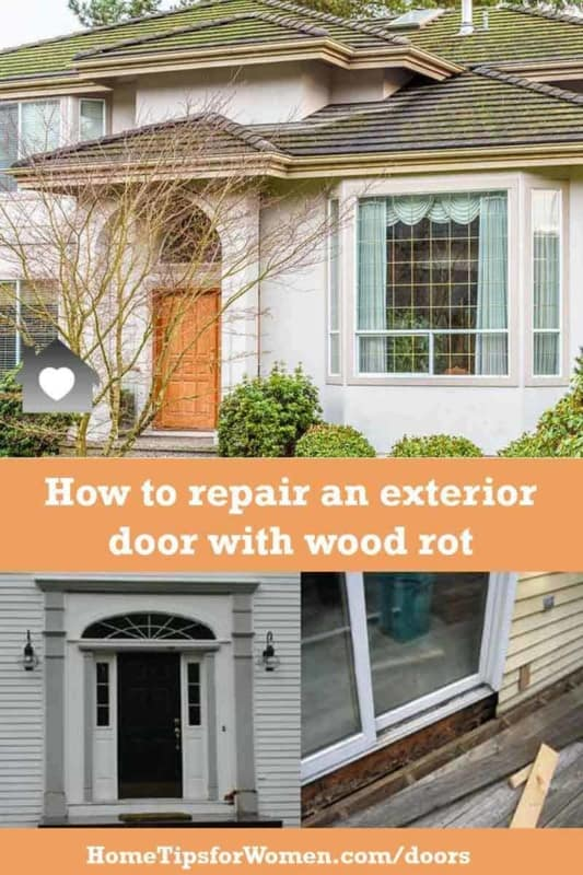 we explain what's involved when you have to repair rotted wood door bottom