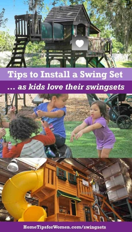 kids love their swing sets so before you buy one, consider what's involved when installing a swing set