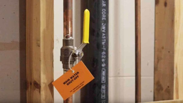 to avoid confusion during a plumbing emergency, label your main water shut off valve so you can quickly turn the water off
