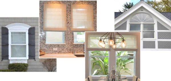 pick the window sizes, styles & shapes that you like & suit your home's personality