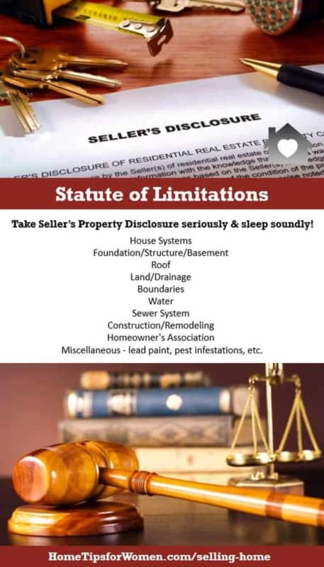 fill out your seller property disclosure & you won't need to worry about the statute of limitations