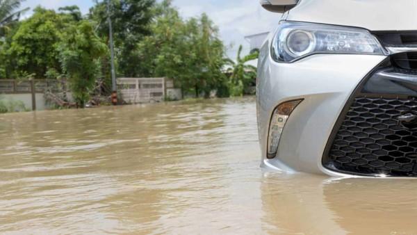 car flooded