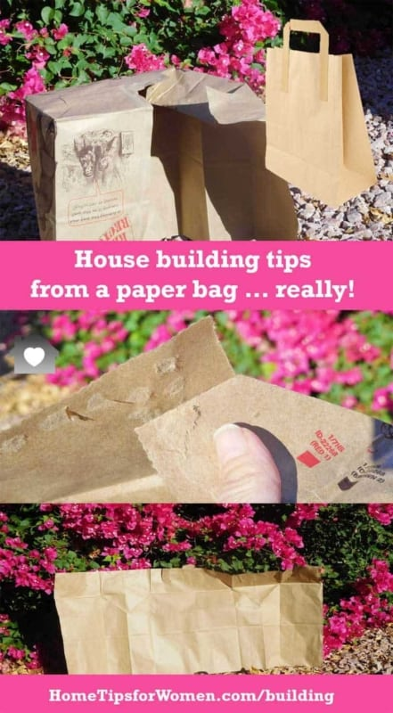 using paper bag to show how many corners there are, similar to the building costs for each & every corner in a room