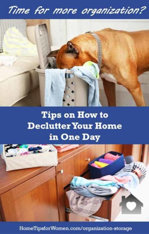 when you feel overwhelmed & don't know where to start, it's time to read our tips on how to declutter your home in one day