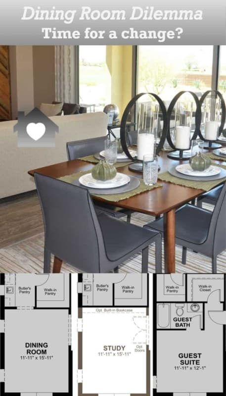 when you have an unused dining room, it might be time to turn it into a room you can use more often like a study or guest bedroom