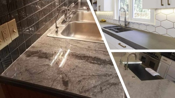 concrete is one of the most unusual countertop materials but you can create almost any color or pattern you want