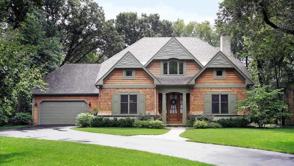 some homeowners still want a wood house & that's when house siding like this clapboard is a great choice
