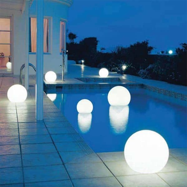 backyard lighting can create a relaxing mood, with enough outlets because you used your electrical checklist