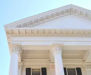 dentil molding used to decorate this Nantucket home
