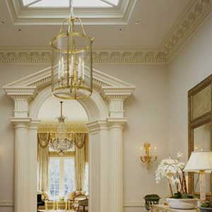 ceiling trim can get extravagant like the one shown here