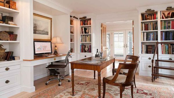 with a more modest budget, home office decorating means buying furniture that fits your needs like thiswith a more modest budget, home office decorating means buying furniture that fits your needs like this desk with built-in storage
