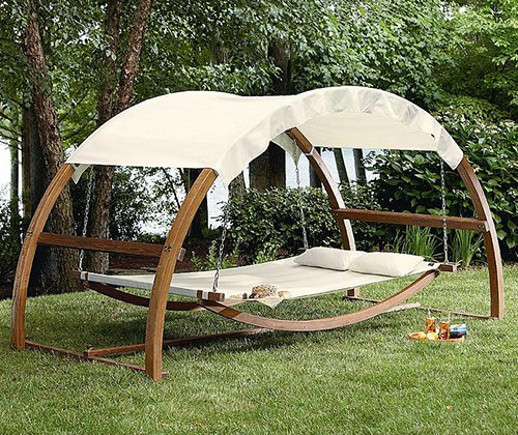 hammock bed with a canopy