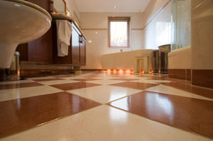 tile flooring is popular in bathrooms