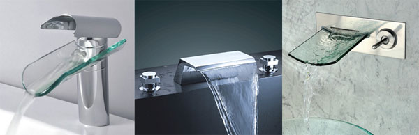unique bathroom sinks might start with a fun waterfall faucet