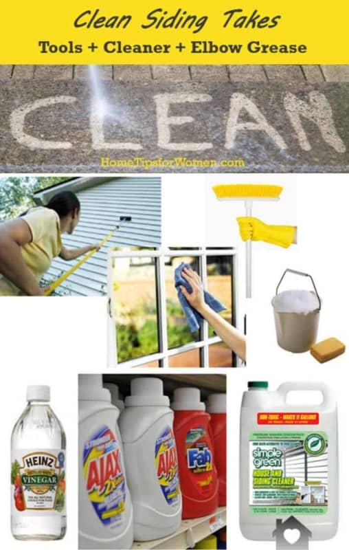 cleaning vinyl siding takes the right tools, cleaning solution & elbow grease