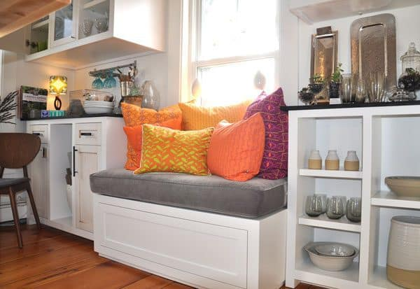 window seats are one of our 5 creative storage ideas to clear the clutter