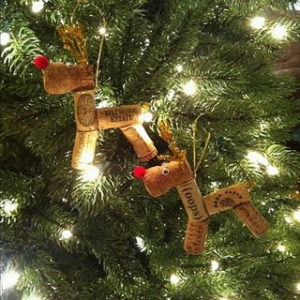 christmas around the world can mean ornaments you've collected in your travels or diy like these cork reindeer
