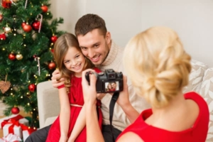 holiday photos can be formal or casual