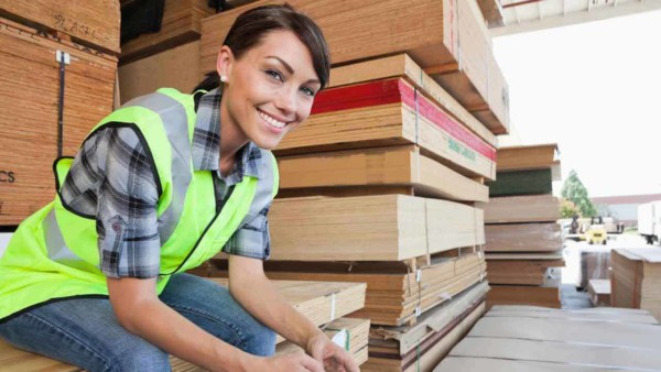 you'll find higher quality house building materials at a local lumber yard