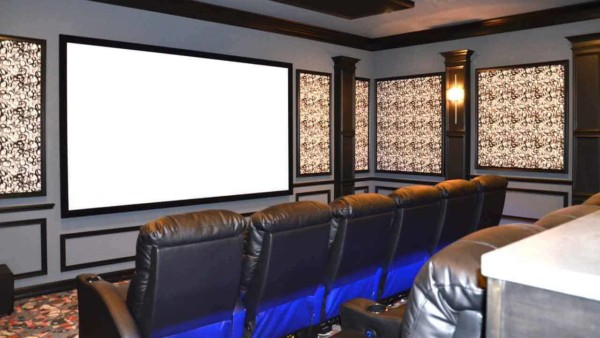 home movie theater which is becoming a popular home entertainment choice