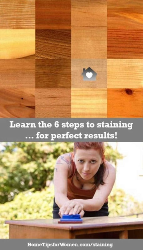 it's not hard to apply a wood stain but you need to follow our 6 steps to get the results you want