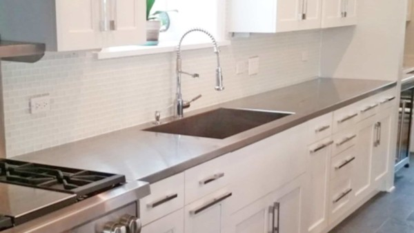 a stainless steel kitchen countertop might be perfect if you love cooking ...