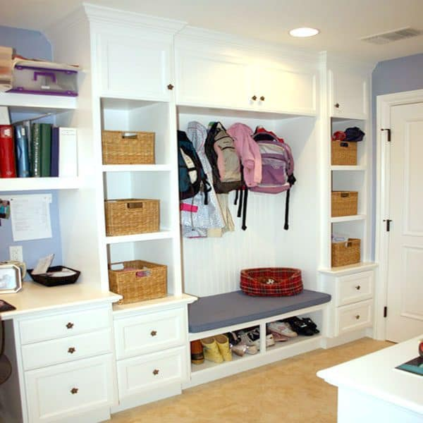 Mudrooms are the perfect spot for all the kids things that don't have to clutter up their rooms.