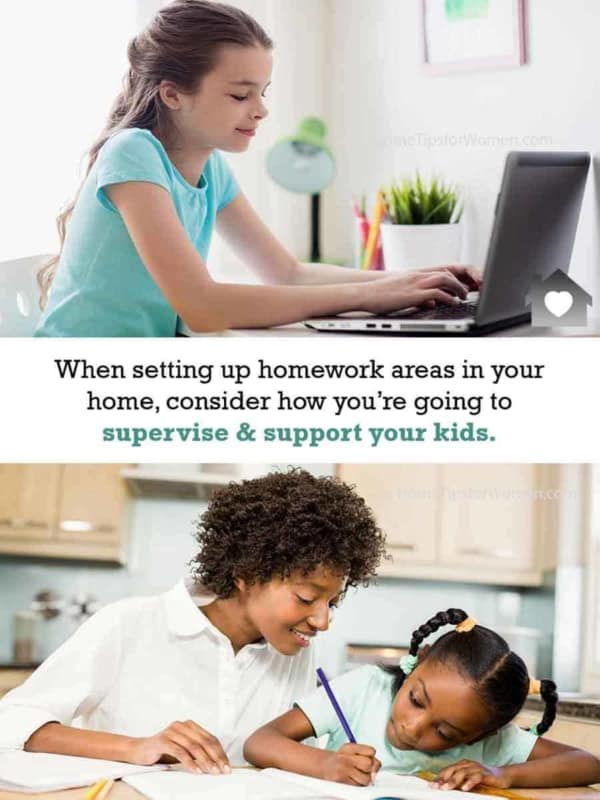 important to read up on back to school tips like where's the best homework area, so you can supervise activities & computer usage