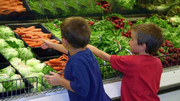 Thanksgiving traditions focus on food, so try to involve your kids in gifting groceries to families in need