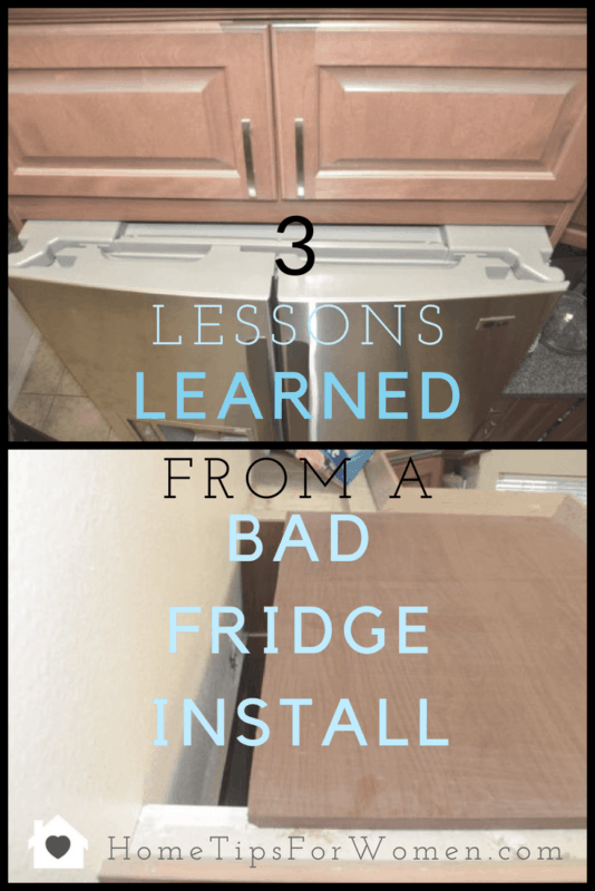 three lessons learned from a bad fridge install