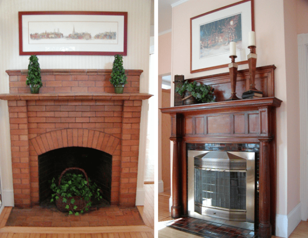 fireplace ideas should fit your home's style from Victorian fireplaces shown here to more contemporary ones if that's your home's style