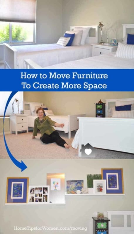 it's often possible to move furniture, to create more usable space in a room