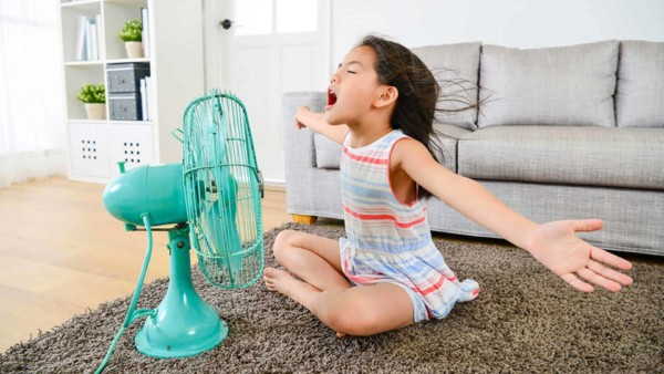 a central air conditioner offers a lot more cooling than a single fan like this one