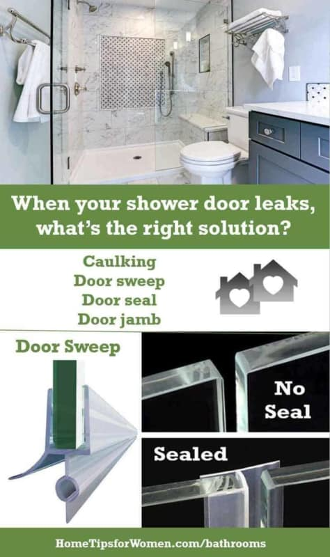 make sure you know where your shower door leaks are coming from, so you can pick the right solution ... which might surprise you!
