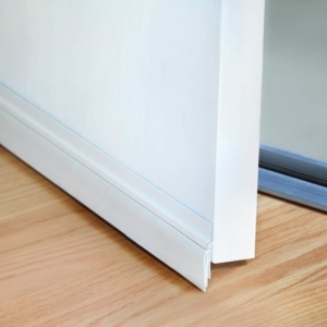even a door sweep attached with an adhesive can keep your home more comfortable & cut down heating/cooling costs
