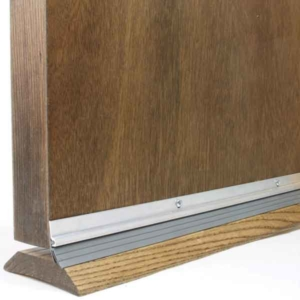 a door sweep blocks gaps between your door & threshold, where warm air escapes