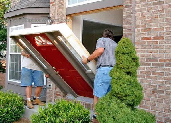 making sure you have a plumb door is key to a successful installing