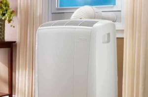 did you know that types of air conditioners includes a portable unit you can wheel from room to room