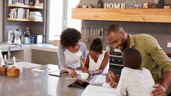 popup electrical outlets make it much easier & safer to have your kids do homework in the kitchen while you're preparing dinner