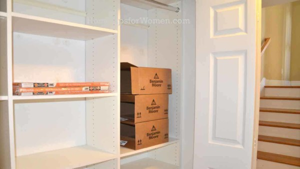 staging a home must include the closets & other storage areas