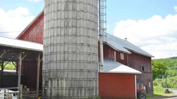 many country barns have 1 or more silos next to them