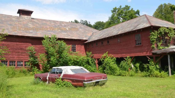some country barns are used for storage but oops, this car didn't get inside