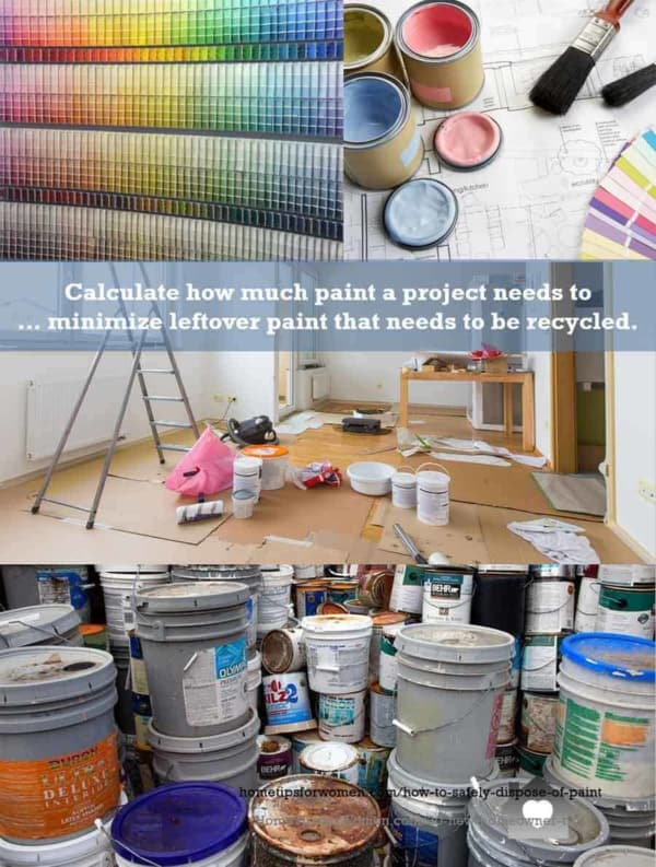 it's easier to reduce how much leftover paint you have, than to learn how to dispose of paint safely