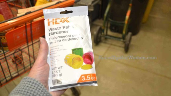 paint hardeners are an easy way to dispose of paint you no longer want