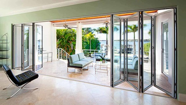 one alternative to sliding patio doors is a folding patio door that works like a bi-fold door