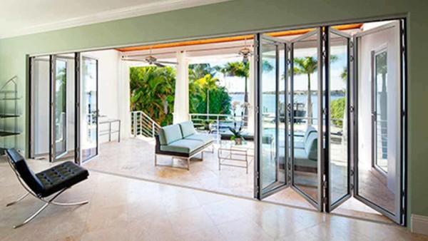 one alternative to sliding patio doors is a folding patio door that works like a bi-fold door