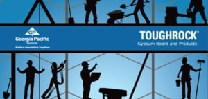 here's a great document with more information that you need to ever know about gypsum drywall, including Georgia Pacific's firerock brand Toughrock