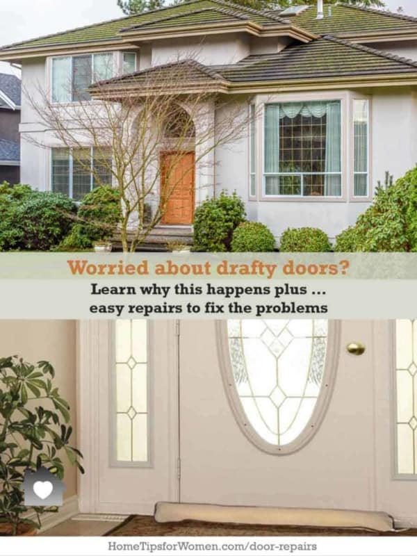 doors that are drafty are often not plumb, so learn how you can make this simple door repair