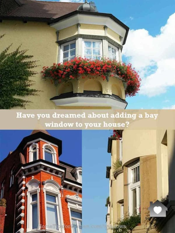 there are many choices when adding bay windows to your house, so have fun picking & decorating one