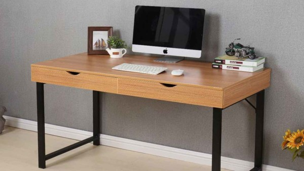 when creating your home office design, consider how big a desk you want & how much flexibility you need for future homes